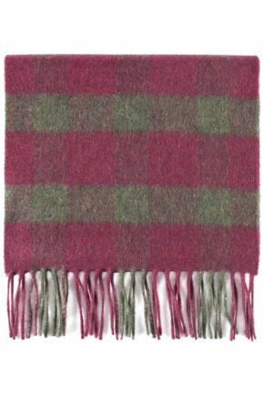 Mens and Ladies Great & British Knitwear Made In Scotland Striped 100% Cashmere Scarf