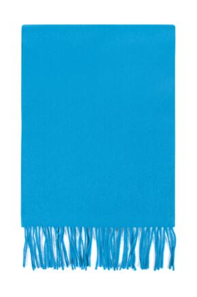 Mens and Ladies Great & British Knitwear Made In Scotland 100% Cashmere Plain Scarf with Fringe