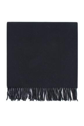 Mens and Ladies Great & British Knitwear Made In Scotland 100% Cashmere Wide Knit Plain Scarf with Fringe