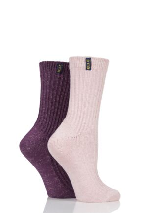 Ladies 2 Pair Elle Velvet Soft Ribbed Boot Socks sale sale