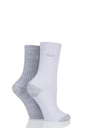 Ladies 2 Pair Elle Velvet Soft Boot Socks
