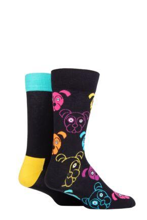 Happy Socks 2 Pair Dog Cotton Socks