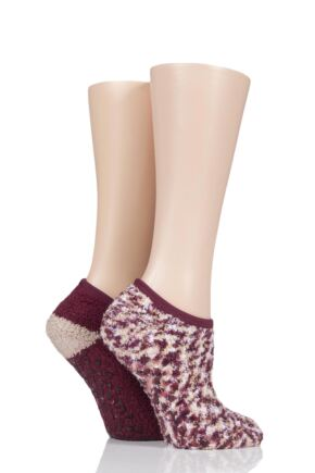 Ladies 2 Pair Cosy Mary Jane Socks