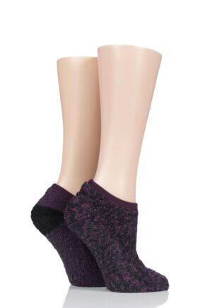 Ladies 2 Pair Cosy Mary Jane Socks