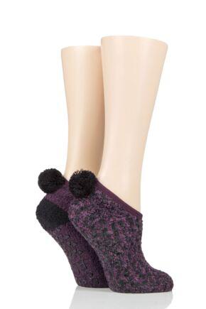 Ladies 2 Pair Elle Cosy Mary Jane Socks