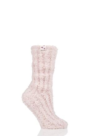 Ladies 1 Pair Elle Feather Slipper Socks