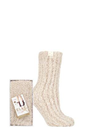 1 Pair Feather Slipper Gift Boxed Socks Ladies - Elle