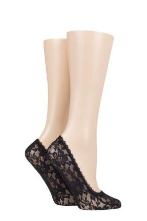 Ladies 2 Pair Elle Lace Shoe Liners