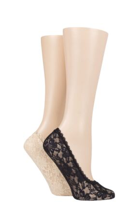Ladies 2 Pair Elle Lace Shoe Liners