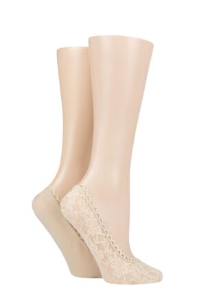 Ladies 2 Pair Elle Lace and Wrapover Shoe Liners