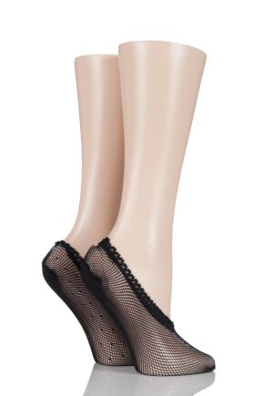 Ladies 2 Pair Elle Fishnet Shoe Liners