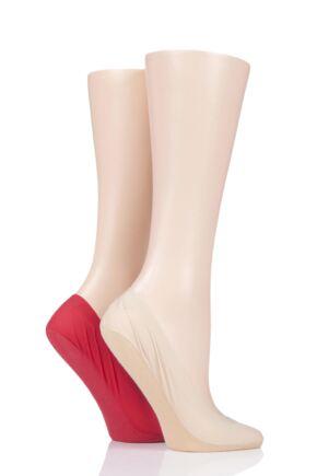 Ladies 2 Pair Elle Smooth Nylon Shoe Liners