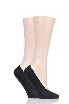 Ladies 2 Pair Elle Scallop Edge Shoe Liners