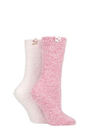 Ladies 2 Pair Elle Cosy Bed & Slipper Socks