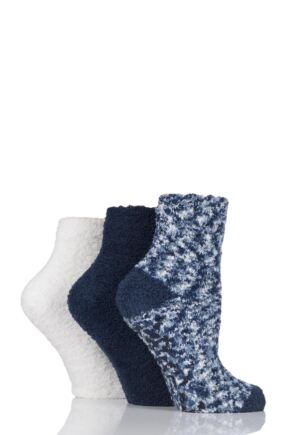 Ladies 3 Pair Elle Cosy Bed and Slipper Socks