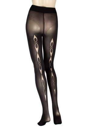 Ladies 1 Pair Trasparenze Security Opaque Backseamed Tights
