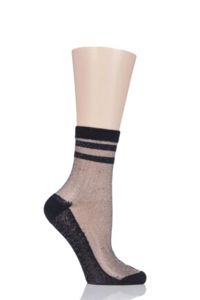 Ladies 1 Pair Elle Fishnet and Fashion Anklet Socks