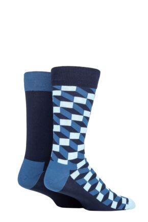 Happy Socks 2 Pair Filled Optic Socks