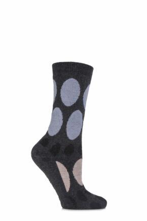 Ladies 1 Pair Elle Soft Wool & Viscose Blend Slipper Socks