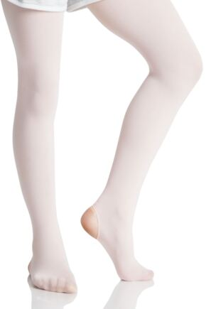 Girls 1 Pair Silky Ballet Convertible Tights Theatrical Pink 11-13