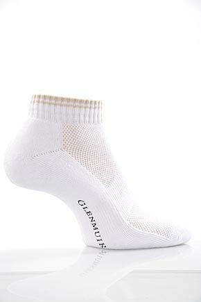 Ladies 2 Pair Glenmuir Ardelle Half Cushion Secret Socks White / Sand