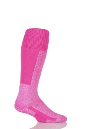 Mens and Ladies 1 Pair Thorlos Ski Thick Cushion Maximum Protection Socks With Wool Pink 11