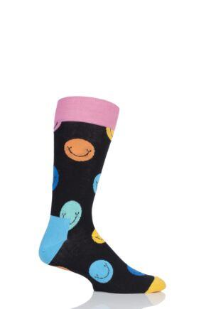 Mens and Ladies 1 Pair Happy Socks Smile Combed Cotton Socks