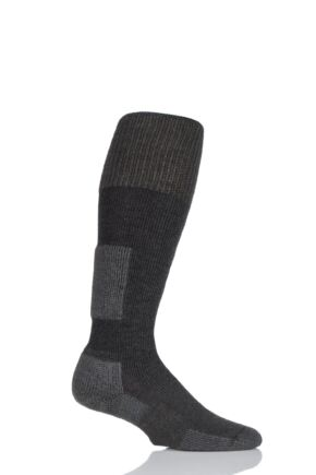 Mens and Ladies 1 Pair Thorlos Snow Board Thick Cushion Socks With Thorwick Charcoal 11