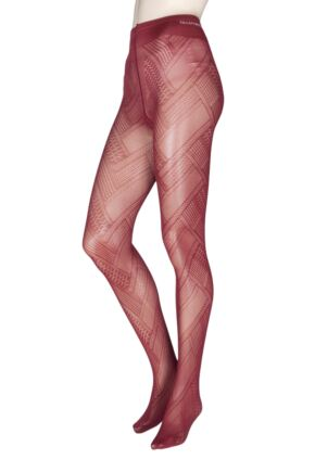 Ladies 1 Pair Trasparenze Soave Patterned Opaque Tights
