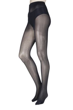 Ladies 1 Pair Trasparenze Socrate Glitter Stripe Tights