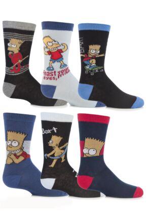 Boys 4 Pairs TM The Simpsons Socks 25% OFF