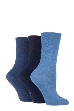 Kids 3 Pair Gentle Grip Plain Cotton Socks