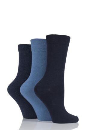 Ladies 3 Pair Jennifer Anderton Plain Cotton Socks