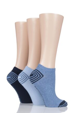 Ladies 3 Pair Jennifer Anderton Plain Cotton Trainer Socks