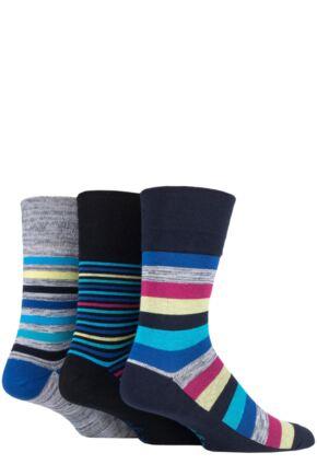 Mens 3 Pair Gentle Grip Colourburst Socks