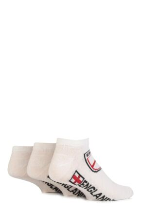 Mens 3 Pair England Trainer Socks White