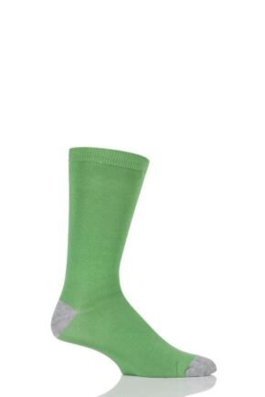 Mens 1 Pair Braintree Solid Jack Bamboo and Organic Cotton Socks Green One Size
