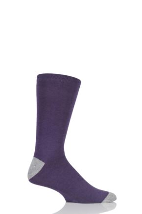 Mens 1 Pair Braintree Solid Jack Bamboo and Organic Cotton Socks Purple One Size
