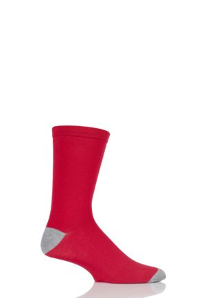 Mens 1 Pair Braintree Solid Jack Bamboo and Organic Cotton Socks Red One Size
