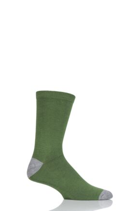 Mens 1 Pair Thought Solid Jack Plain Bamboo and Organic Cotton Socks