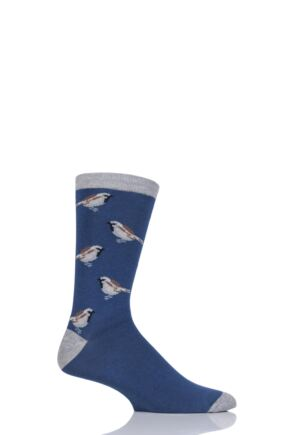 Mens 1 Pair Thought Bird Design Bamboo and Organic Cotton Socks