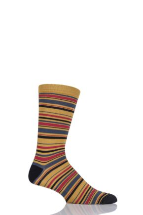 Mens 1 Pair Thought Kieran Multi Stripe Bamboo and Organic Cotton Socks