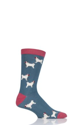 Mens 1 Pair Thought Canine Bamboo and Organic Cotton Socks