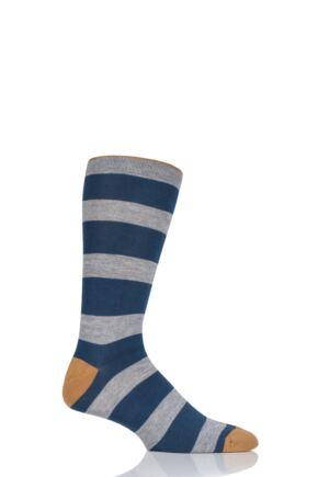 Mens 1 Pair Thought Kieran Stripe Bamboo and Organic Cotton Socks