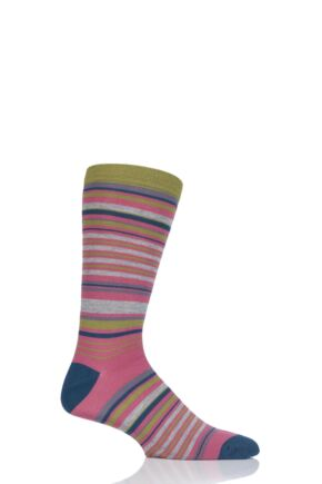 Mens 1 Pair Thought Jamie Stripe Bamboo and Organic Cotton Socks