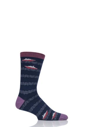 Mens 1 Pair Thought Starboard Bamboo and Organic Cotton Socks Navy 7-11 Mens