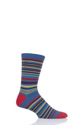 Mens 1 Pair Thought Marshland Striped Bamboo and Organic Cotton Socks