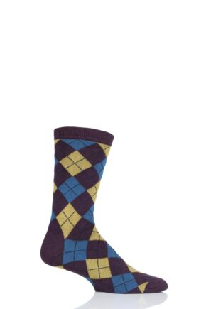Mens 1 Pair Thought Mckinnon Argyle Bamboo and Organic Cotton Socks