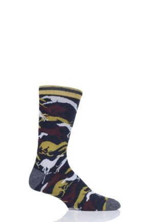 Mens 1 Pair Thought Whippet Bamboo and Organic Cotton Socks