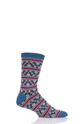 Mens 1 Pair Thought Holly Bamboo and Organic Cotton Socks
